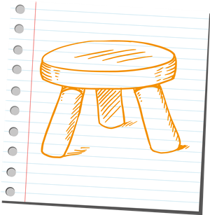 3 leg stool partnership