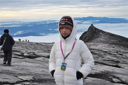 Amelia on Mount Kinabalu