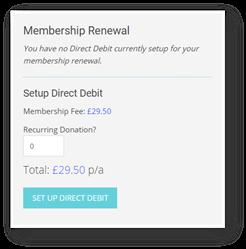 Membership renewal section
