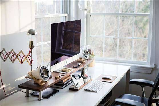 A home office set up