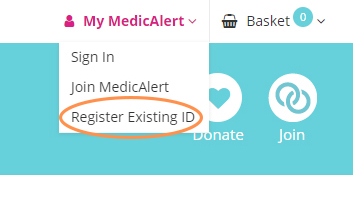 Register existing iD